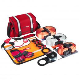 Такелажный набор ORPRO Premium 16000 кг (Красная сумка, Oxford 1680)