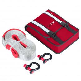 Компактный такелажный набор ORPRO 12000 кг (Красная сумка, Oxford 1680)
