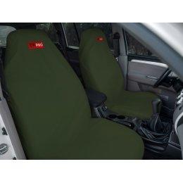 Комплект грязезащитных чехлов на передние и заднее сиденья (Зеленый)