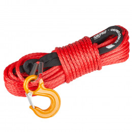 Синтетический трос ORPRO 30м 10мм (красный, с крюком)