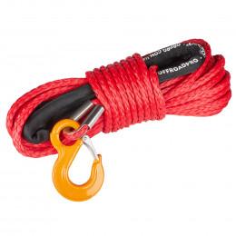 Синтетический трос ORPRO 30м 12мм (красный, с крюком)