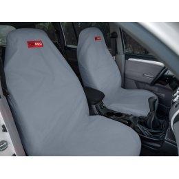 Комплект грязезащитных чехлов на передние и заднее сиденья (Серый)