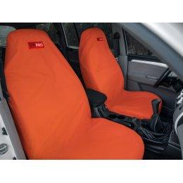 Комплект грязезащитных чехлов на передние и заднее сиденья (Оранжевый)
