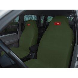 Комплект грязезащитных чехлов на передние сиденья (Зеленый)