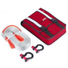 Компактный такелажный набор ORPRO 9000 кг (Красная сумка)