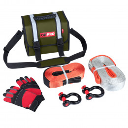 Малый такелажный набор ORPRO 9000 кг (Зеленая сумка)
