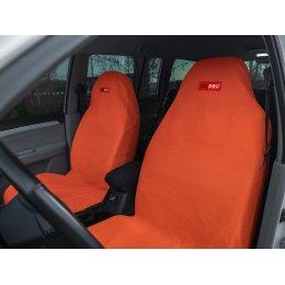 Комплект грязезащитных чехлов на передние сиденья (Оранжевый)