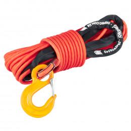 Синтетический трос в защитной оплетке ORPRO 25м 12мм (оранжевый, с крюком)