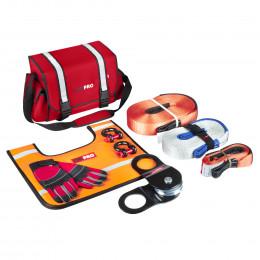 Большой такелажный набор ORPRO 6000 кг (Красная сумка, Oxford 600)