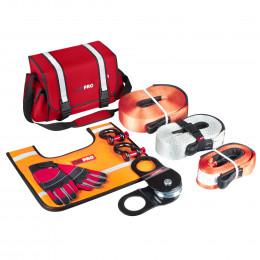 Большой такелажный набор ORPRO 16000 кг (Красная сумка, Oxford 600)