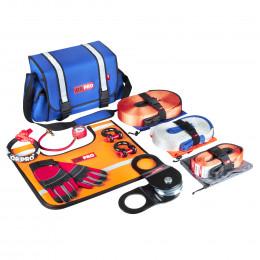 Такелажный набор ORPRO Premium 6000 кг (Синяя сумка, Oxford 600)