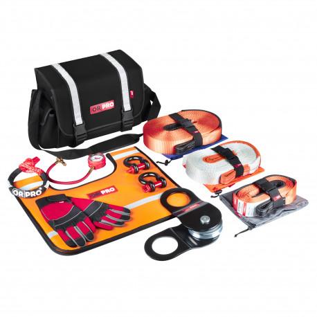 Такелажный набор ORPRO Premium 9000 кг (Черная сумка, Oxford 600)