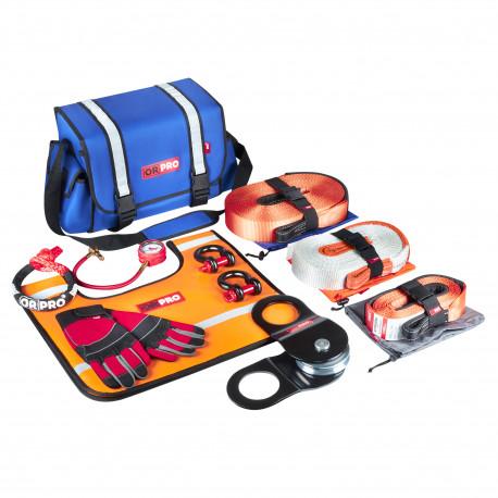 Такелажный набор ORPRO Premium 9000 кг (Синяя сумка, Oxford 600)