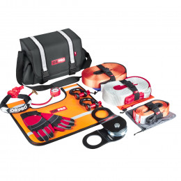 Такелажный набор ORPRO Premium 12000 кг (Серая сумка, Oxford 600)