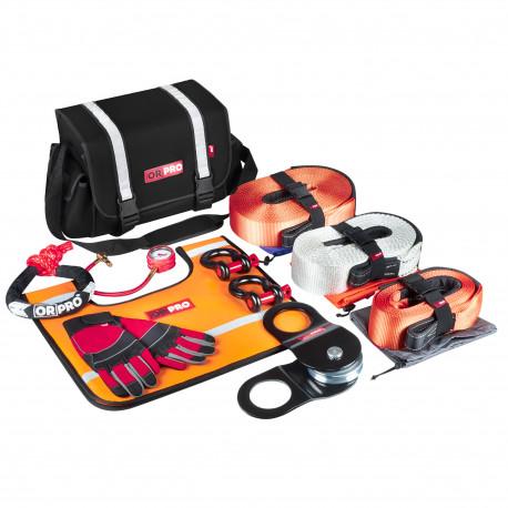 Такелажный набор ORPRO Premium 16000 кг (Черная сумка, Oxford 600)