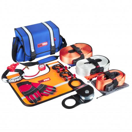 Такелажный набор ORPRO Premium 16000 кг (Синяя сумка, Oxford 600)