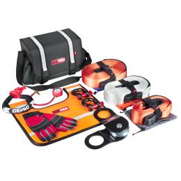 Такелажный набор ORPRO Premium 16000 кг (Серая сумка, Oxford 600)