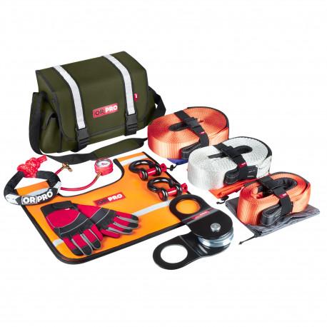 Такелажный набор ORPRO Premium 16000 кг (Зеленая сумка, Oxford 600)