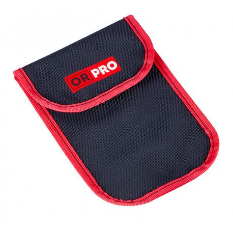 Чехол ORPRO для дефлятора с цифровым манометром (Черный с красным кантом)