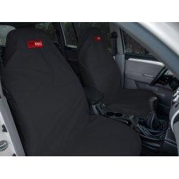 Комплект грязезащитных чехлов на передние и заднее сиденья (Черный)